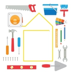 house remodel tools vector image vector image
