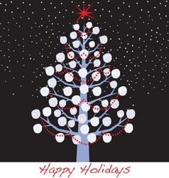 snowball christmas holiday tree vector image vector image