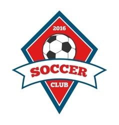 soccer logo badge emblem template in red vector image