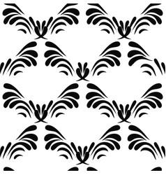 vintage decorative black seamless dama vector image vector image