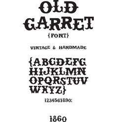 Vintage western font vector image