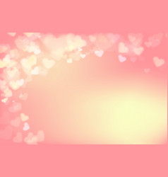 003 blur heart on light pink abstract background vector image