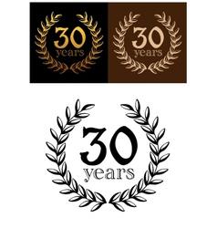 30 years anniversary wreath vector image