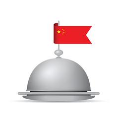 china flag dinner platter vector image