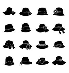 elegant hats vector image vector image