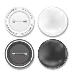 black and white badges vector image vector image