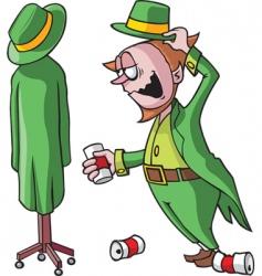 drunk leprechaun vector image vector image