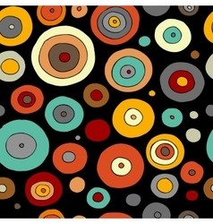 Funny circles colorful seamless pattern for your vector image