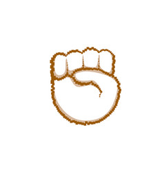 palm high five hand gesture people emotion icon vector image