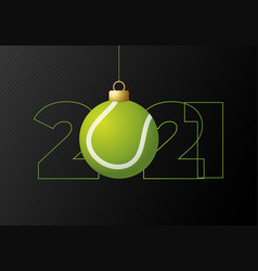 2021 happy new year sports greeting card vector image