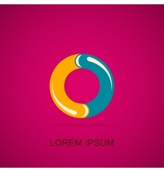 Abstract circle logo vector image vector image