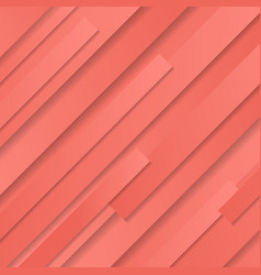Abstract coral color pink striped geometric vector