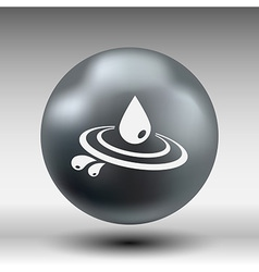 Abstract symbol of a drop water symbol vector image