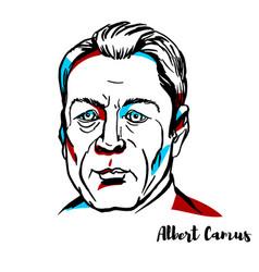 Albert camus portrait vector