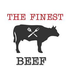 Bbq the finest beef image vector