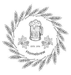 beer and brewery emblems vector image