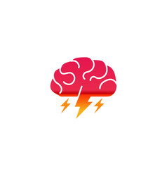 Brain storm logo vector