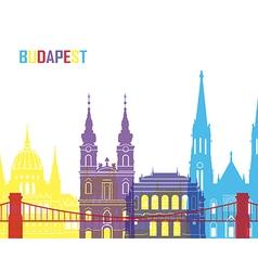 Budapest skyline pop vector