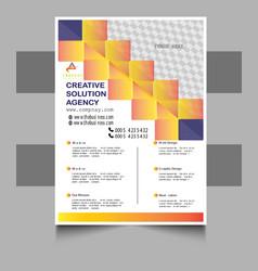 Business flyer or brochure template design vector