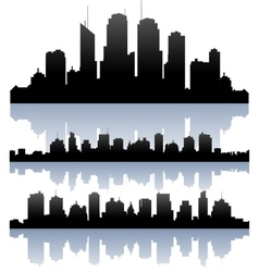 Cityscape skyline buidlings silhouette vector