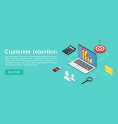 Client attraction concept banner isometric style vector