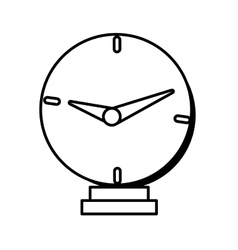 Clock time business money design line vector