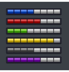 Color loading progress bar set vector