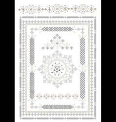 Decorative ta pis of oriental pattern vector image
