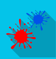 Drops spray paintpaintball single icon in flat vector