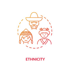 Ethnicity red concept icon vector