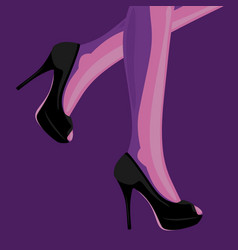 fashion of slim female legs in black vector image