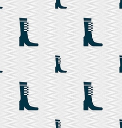 female fall and winter shoe boot icon sign vector image