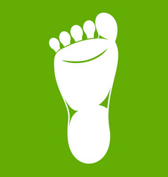 foot left leg icon green vector image
