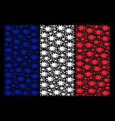 France flag collage of bacteria icons vector