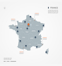 France infographic map vector