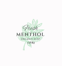 fresh menthol farms abstract sign symbol vector image