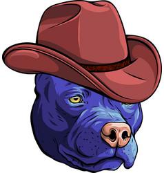 Gangster dog with elegant hat vector