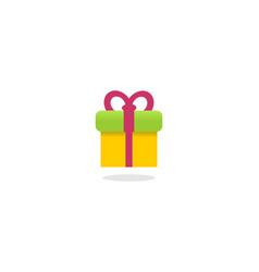 gift logo vector image