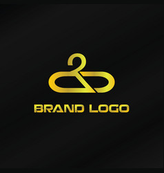 gold brand logo template vector image