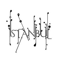 Handlettered ornamental Istanbul typography vector