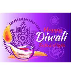 happy diwali festival of lights 2018 banner vector image
