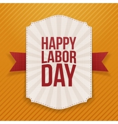 Happy Labor Day big white Label vector image