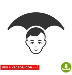 Head Umbrella EPS Icon vector