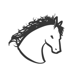 horse animal animal silhouette icon vector image
