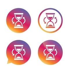 Hourglass sign icon Sand timer symbol vector image