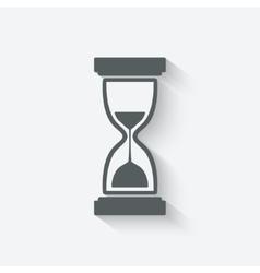 Hourglass symbol vector