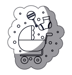 Isolated baby stroller design vector image