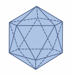 Isolated icosahedron vector