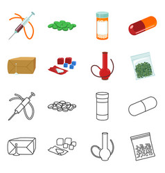 isolated object disease and chemical symbol vector image