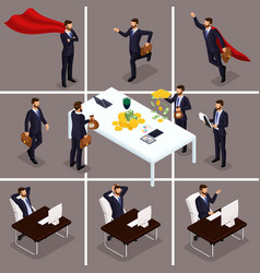 isometric 3d businessmen vector image